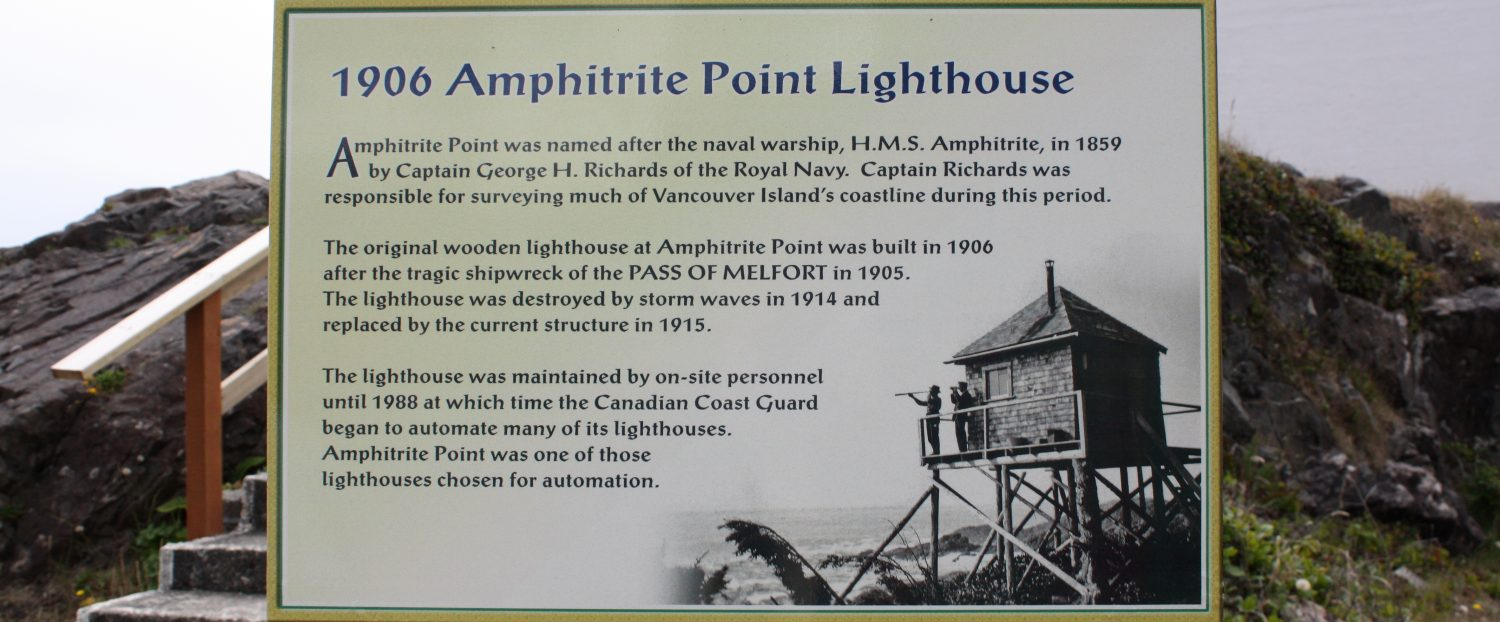History of the Amphitrite Lighthouse -Ucluelet-Info: Your
